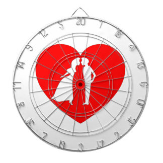 Valentine s Day Kiss and Heart Dart Boards