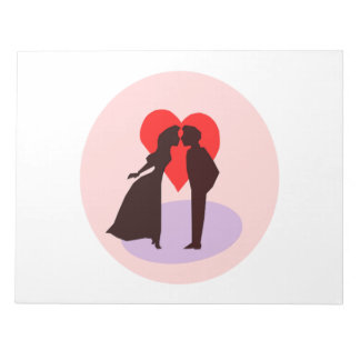 Valentine s Day Kiss and Heart Memo Notepad