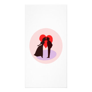 Valentine s Day Kiss and Heart Personalized Photo Card
