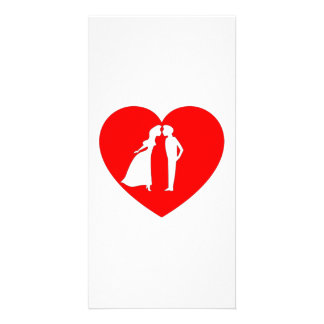 Valentine s Day Kiss and Heart Photo Card