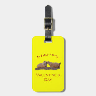Valentine s Day Kiss Travel Bag Tags
