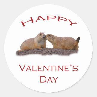 Valentine s Day Kiss Round Sticker