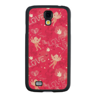 Valentine s Day Pattern With Cupid Carved® Maple Galaxy S4 Slim Case