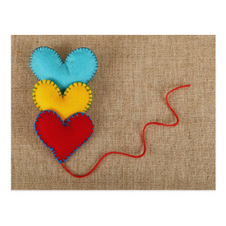 Valentine' s Day Postcard with colorful heart