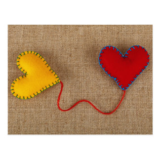 Valentine' s Day Postcard with colorful hearts