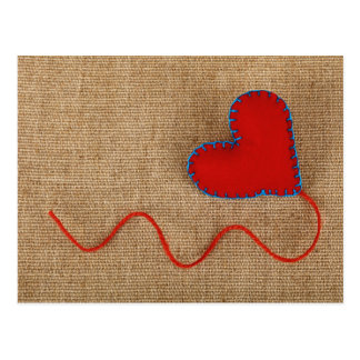 Valentine' s Day Postcard with red heart