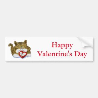 Valentine's Day Present for Tiger Kitten Bumper Sticker