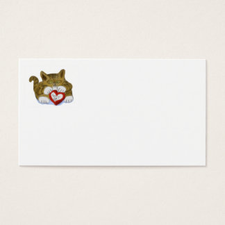 Valentine's Day Present for Tiger Kitten Business Card