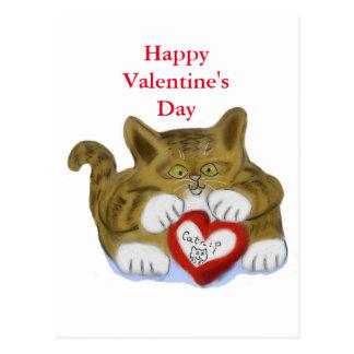 Valentine's Day Present for Tiger Kitten Postcard