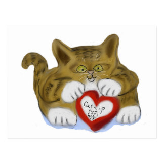 Valentine's Day Present for Tiger Kitten Postcards