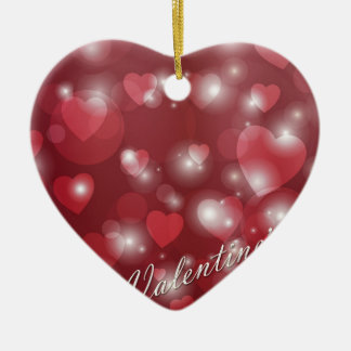 Valentine s day red heart for the romantic ceramic heart decoration