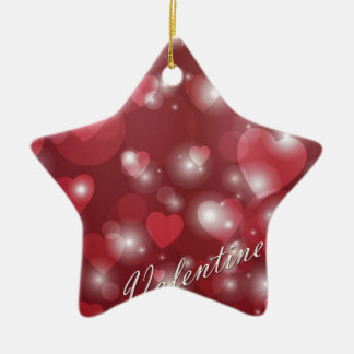 Valentine s day red heart for the romantic ceramic star decoration