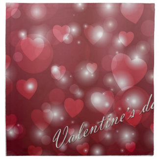 Valentine s day red heart for the romantic napkin