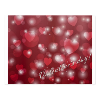 Valentine s day red heart for the romantic postcard