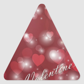 Valentine s day red heart for the romantic triangle sticker