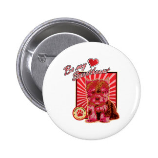 Valentine s Day Sweetheart Cute Puppy Dog Pinback Buttons