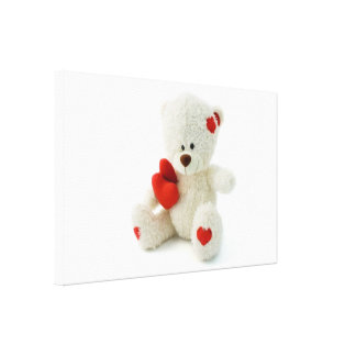 Valentine's Day Teddy Bear  Canvas Print