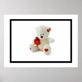 Valentine's Day Teddy Bear Poster