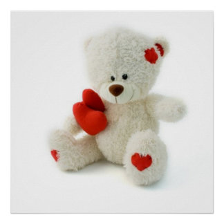 Valentine's Day Teddy Bear Poster