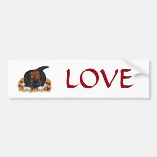 Valentine's Day Tuxedo Kitten Car Bumper Sticker