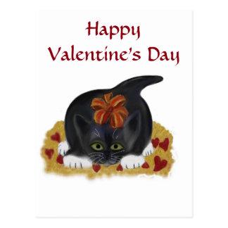 Valentine's Day Tuxedo Kitten Postcard