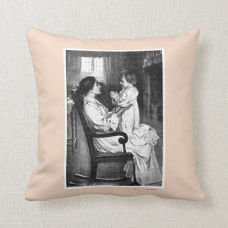 Valentine s Day Vintage Mother s Day Throw Pillow