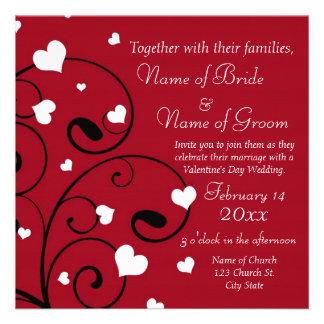 Valentine s Day Wedding Invitation Cards