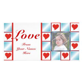 Valentine's Heart Pattern Photo Cards