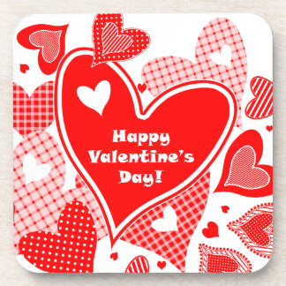 Valentine's Hearts Beverage Coasters
