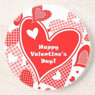 Valentine's Hearts Drink Coasters