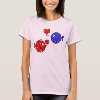 Valentine Shirt with Cute Blowfish Friends
