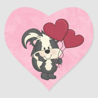 Valentine Skunk sticker