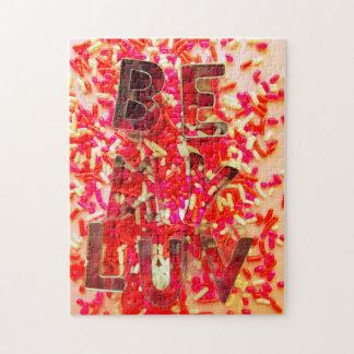 Valentine Sprinkles Be My Luv Jigsaw Puzzle