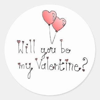 Valentine sticker- Circle Round Sticker