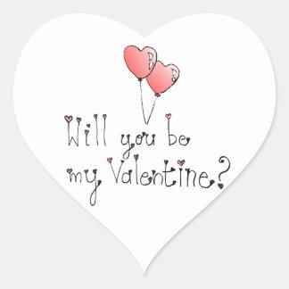 Valentine sticker- Heart Heart Sticker