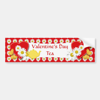 Valentine Tea Party Decoration - Bumper Sticker Car Bumper Sticker