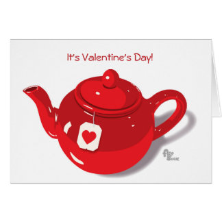 Valentine Teapot Greeting Card