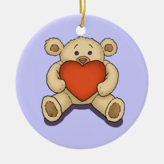 valentine teddy bear ornament