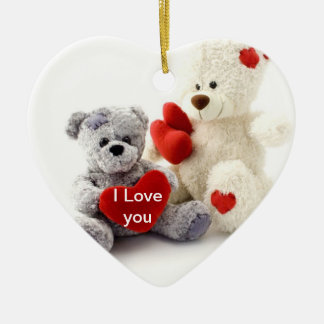 Valentine Teddy Bear Valentine Ornament