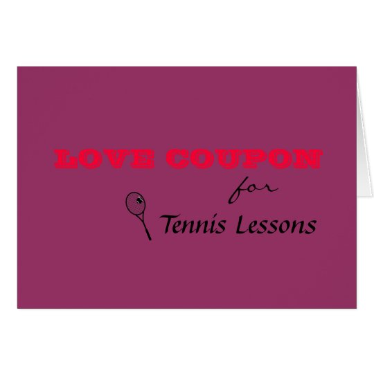 Valentine tennis lesson card