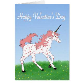 Valentine Unicorn Card