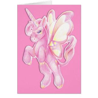 Valentine Unicorn Greeting Card