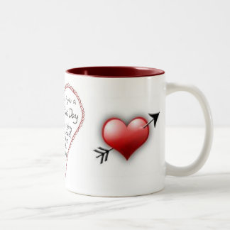 valentine, valentines-day, hart Two-Tone coffee mug