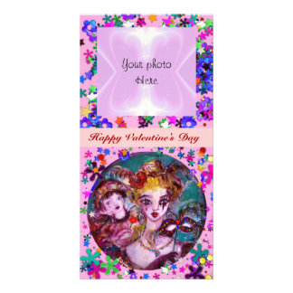 VALENTINE VENETIAN MASQUERADE MASKS PERSONALISED PHOTO CARD