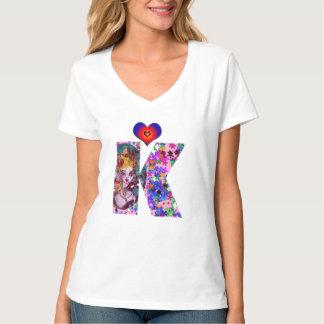 VALENTINE VENETIAN MASQUERADE MONOGRAM K LETTER T-Shirt