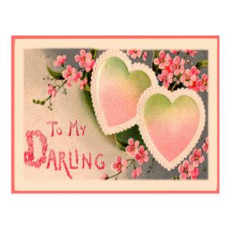 Valentine Vintage Heart Postcard