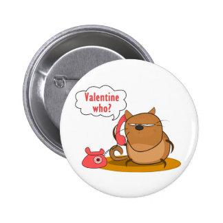 Valentine Who Pinback Button
