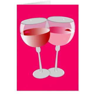 Valentine Wine Card