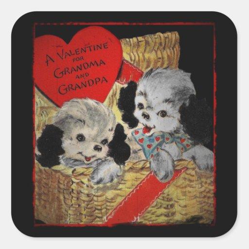 Valentine Wishes for Grandparents Square Sticker