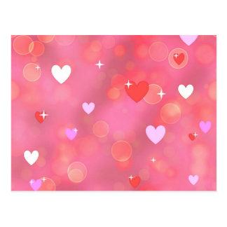 Valentine's background postcard